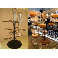 China 12 Arms White Cocktail Tree Stand Rack , 3 Layers Wine Glass Metal Display Rack wholesale
