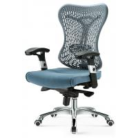China Commercial Gray Mesh Task Chair With Arms , Mesh Back Desk Chair For Secretary wholesale