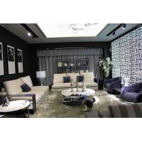 Upholstered Modern Lobby Sofas , White Leather Swivel Chairs For Living Room