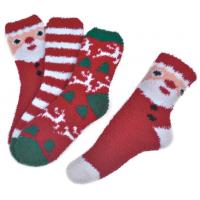 China Polyester plush therapy foot spa socks Christmas theme Winter wholesale