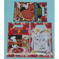 China Red Plastic Toy Packaging Poly Bags / Custom Printed 3 Side Seal Bag wholesale