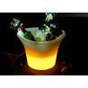 China Plastic PE Led Ice Buckets / Illuminated Ice Bucket With Rechargeable Battery wholesale