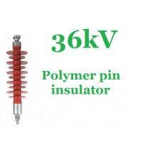 China High Voltage Pin Post Insulator Silicone Rubber 36 Kv Impact Resistant on sale