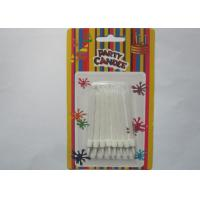White Flameless Spiral Birthday Candles White Cake Decoration With Holders