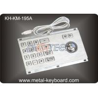 Anti - Vandalism Trackball Industrial Keyboard with Trackball With PS/2 / USB Interface