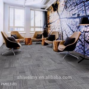 China Chinese multi level loop 3mm/4mm/5mm 50*50cm Polypropylene carpet tile wholesale