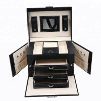 China Locked Portable Jewelry Display Cases , Portable Earring Organizer Box on sale
