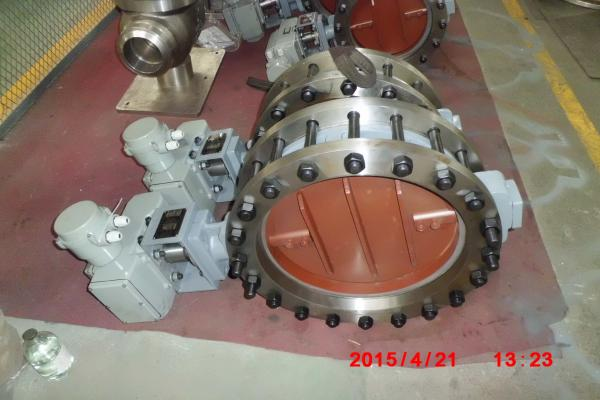 Quality Pneumatic Piston Carbon Steel High Temperature Butterfly Valves CE TRCU ISO9001 for sale
