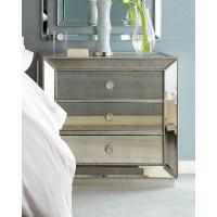 China 5 Star Hotel Mirrored Night Stand Bed Side Table with Wooden Beads Decorate wholesale