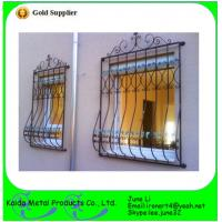 China wrought iron metal bar iron window grill design wholesale