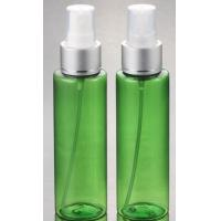 China Hot Sale cosmetic plastic PET Clear silver pump lotion  bottle 100ml with  with fine mist spray on sale