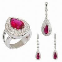 China 4-piece Fashionable Jewelry/Wedding Jewelry Set, OEM and ODM Orders Welcomed wholesale