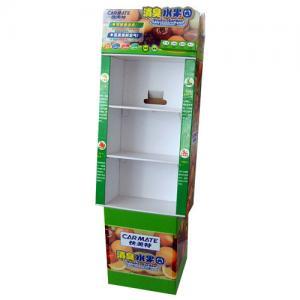 China Strong Cardboard Display Shelf , Supermarket Ivory Board Display Shelves wholesale