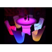 China Color Changing LED Table Furniture ABS Bass PE Materials 8 - 12 Hours Working Time wholesale