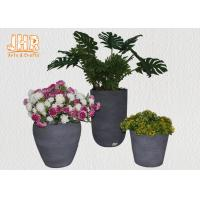 China Clay Garden Pots Outdoor Flower Pots Gray Color Pot Planters MGO Plants Pot Round Clay Pots on sale
