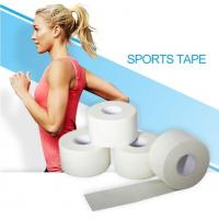 China Zinc Oxide Breathable Cotton Adhesive Sports Tape, High-strength white cotton sport zigzag tape, white cotton sport pre wholesale