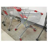 China Removable Wheeled Supermarket Shopping Cart / Steel Wire Carts With PVC Wheels wholesale