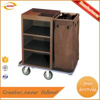 China hotel guest room cleaning carts service hand trolley Kunda C-008 on sale