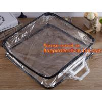China Eco-friendly wholesale travel cosmetic bag clear zipper pvc cosmetic bag for women wholesale