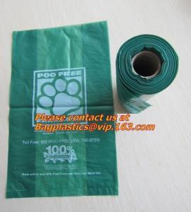 China trash bin liner,refuse sack, garden compost bag,bin liner, 100% biodegrable bag for food wholesale
