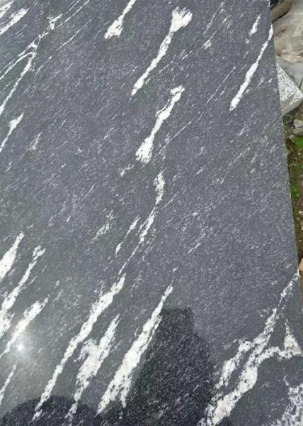 Quality Black Granite Stone Slabs Snow Grey Slab Tile Polished Sawn Flamed Corrosion Resistance for sale