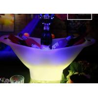 China 2018 Hot Plastic Champagne Acrylic Led Ice Bucket For Beer , Colour Changing Ice Bucket wholesale