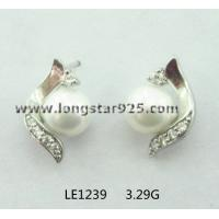China wholesale silver pearls jewelry, pearls earrings for wedding jewelry wholesale