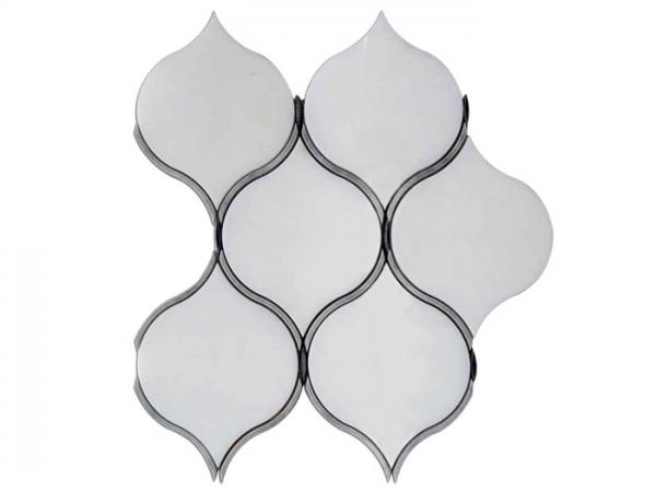 Quality Waterjet Marble Mosaic Shower Tile , Home Depot Mosaic Tile For Shower Walls for sale