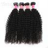 China Kinky Curly Burmese Virgin Hair Bundles , No Tangle Real Wavy Hair wholesale