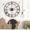 China Rustic Oversize skeleton roman numerals retro OEM Vintage Farmhouse Decorate Large Windmill Quartz Wall Clock wholesale