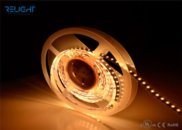 Quality UL Listed Dimmable IP20 4.8w 12VDC Warm White Led Strip Lights 3528 Smd Led Strip for sale