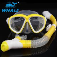 China Purge Valve Swim Mask Snorkel Set With Soft Silicone Mouthpiece , Silicone Strap wholesale