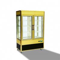 China 828L Aluminium Frame Refrigerated Cake Display Cabinets With Folding Door wholesale