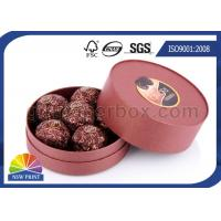 China Customized Round Chocolate Packaging Box with Printing , Small Candy Coated Paper Boxes wholesale