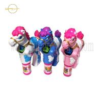 China Horse Pink  Light Up Bubble Blaster Battery Operated For Kids Blowing wholesale