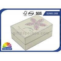 China Pearl Decorated Fancy Small Cardboard Paper Box / Rectangle Rigid Paper Box wholesale