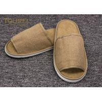 Buy cheap Disposable Close Toe Hotel Room Slippers / Disposable Travel Slippers from wholesalers