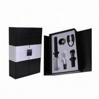 China Bar Set, Includes 1pc Cork Pops Wine Opener, 1pc Wine Pourer and 1pc Wine Vacuum Stopper wholesale