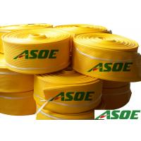 China Yellow Color 4 Inch PVC Lay Flat Water Hose For Industrial Water Discharge wholesale