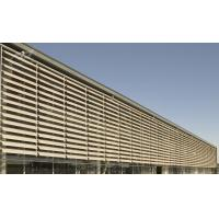 China 550 Aerofoil Aluminum Sun Louvers Systems , Louvre Sun Shade Systems Architectural wholesale