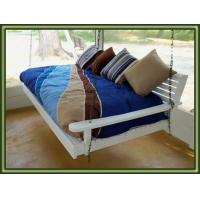 China hanging 3seater patio swing folding bed wholesale