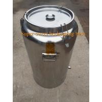 China 220 lb. Stainless Steel Honey Barrel/Tank with Gate Valve and heater wholesale