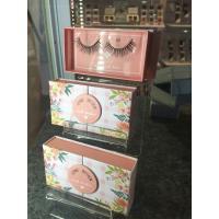 3D faux mink eyelashes glue included custom package free sample silk eyelash