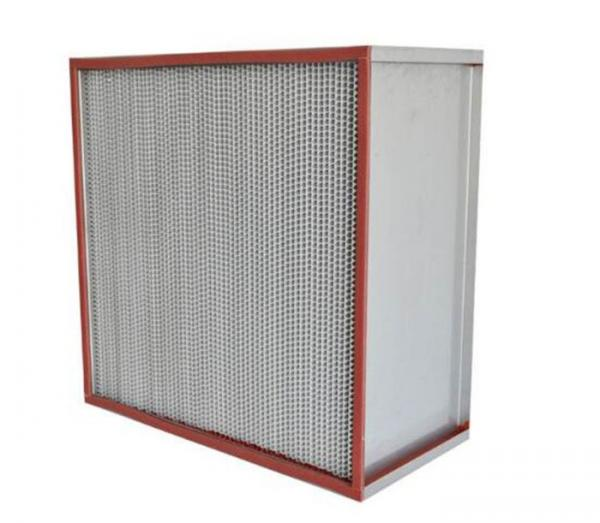 Quality Glass Fiber High Temperature Air Filter Galvanized Frame ISO Certification for sale