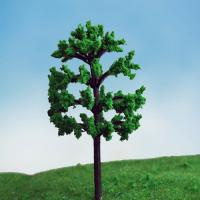 Buy cheap MODEL TREE with leaf Plastic green ,GT23 H:40-120mm from wholesalers