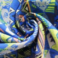 China F5734 100%polyester fabric printing, siler and gold foil finished is available for fashion on sale