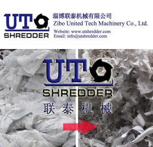 China good plastic jumbo bag shredder, plastic bag, package bag shredder - plastic double shaft shredder, plastic granulator on sale