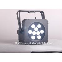 China 2018 Stage Light 9pcs 10w/15w 4in1/5in1 Flat dmxwireless battery powered led par wholesale