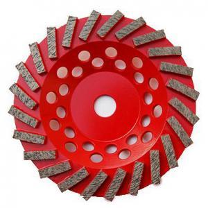 China 7 inch Concrete Diamond Grinding Wheel | Swirl Grinding Diamond Cup Wheel for Concrete | Extra Soft Diamond cup Wheel wholesale