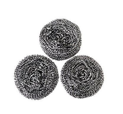 Quality Non Toxic Material Stainless Steel Scrubbers , Long Lifetime Scouring Pad Safe For Stainless Steel for sale